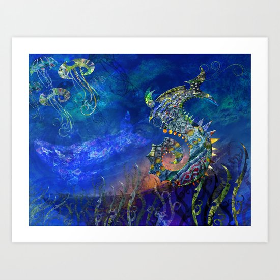 Sea Dragon. Art Print