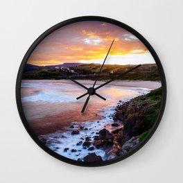 South Coast Sunset Wall Clock
