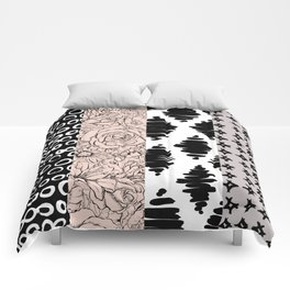 Vertical Stripe Patchwork Pattern Comforters