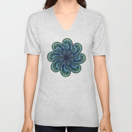 Own Your Beauty - Peacock Feather Mandala Unisex V-Neck