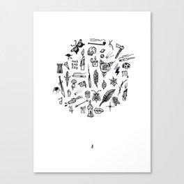 prison tatts Canvas Print