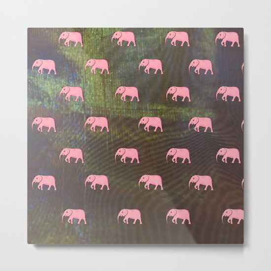 elephants on an abstract background 2 Metal Print