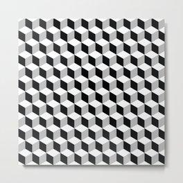 op art - cubes Metal Print