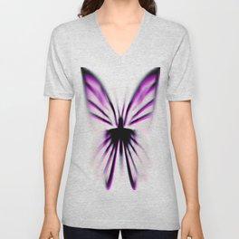 Purple Wings Unisex V-Neck