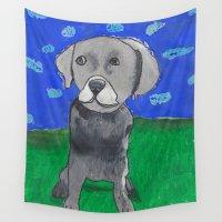 alisa burke Wall Tapestries featuring Alex by Sophia Burke by Utter Studio