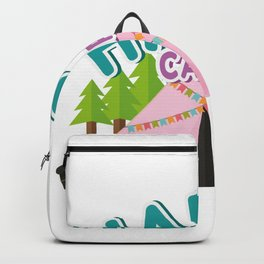 Happy Camper Vacation Camping Gifts Backpack