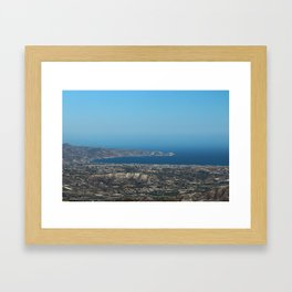 View On Heracleon And The Sea On Crete in Greece Framed Art Print
