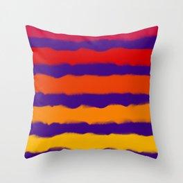 Sapphire Sunset Stripes Throw Pillow