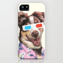 tropical shirt and the 3D glasses iPhone Case