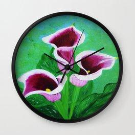Kala Lilies  Wall Clock