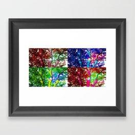 Shades of Trees Framed Art Print