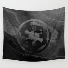 Star Wars Imperial Tie Fighters in Gray Wall Tapestry