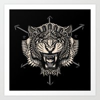 bioworkz Art Prints featuring Eye of the Tiger by BIOWORKZ