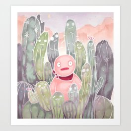 Jelly in Cactus Island Art Print