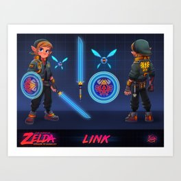 Hyperlink to Ganon City - Link Art Print