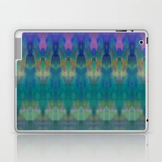 Tribal Diamonds Watercolour Blue Laptop & iPad Skin