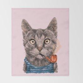 Sailor Cat IX Throw Blanket