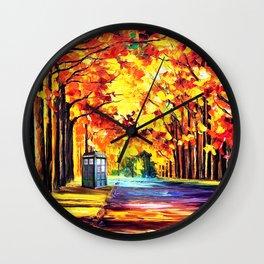 Tardis Stay Alone Wall Clock