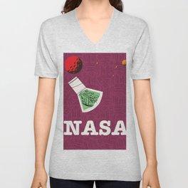 Vintage NASA Space poster Unisex V-Neck