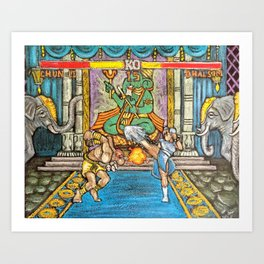 Yoga Flame! Art Print