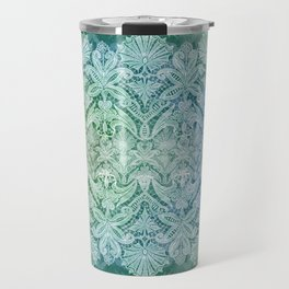 ABERDEEN HEIRLOOM, LACY DAMASK: OLD KELLY GREEN Travel Mug