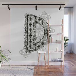 Color Me D Wall Mural
