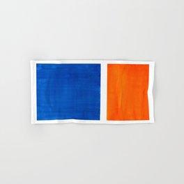 Colorful Bright Minimalist Rothko Orange And Blue Midcentury Modern Art Vintage Pop Art Hand & Bath Towel