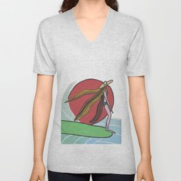 afternoon relax Unisex V-Neck