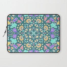 Teal Tile Design Laptop Sleeve