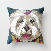 fancy Throw Pillows featuring Fancy  by Maritza Hernandez