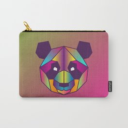 Panda | Geometric Colorful Low Poly Animal Set Carry-All Pouch