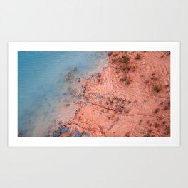 Coast Clash Art Print