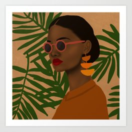 girl in shades Art Print