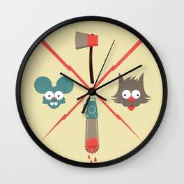 Fight & Bite Wall Clock