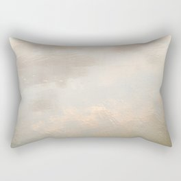 Mirror in the sand   Clouds mirrored on the beach during sunrise   New zealand photo art Rectangular Pillow