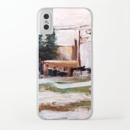 Winter Lot Clear iPhone Case
