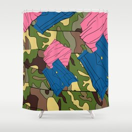 Army Girl Clothing Shower Curtain