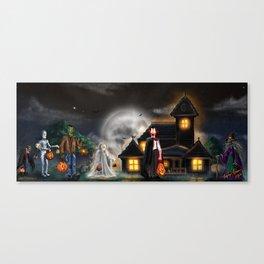 """Halloween"" By Topher Adam 2016 Canvas Print"