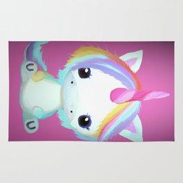Chibi Unicorn (Dark Pink) Rug