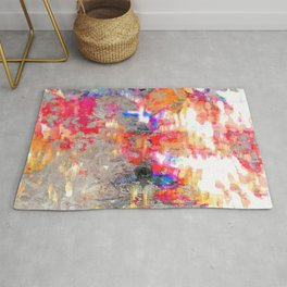 Look On The Bright Side Multcolored Abstract Rug
