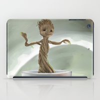 groot iPad Cases featuring Baby Groot by Cassandra Moonen
