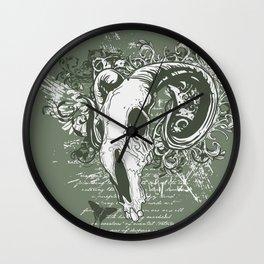 Horned skull Wall Clock