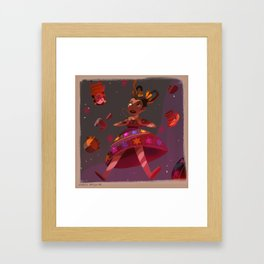 Mexican Alicia in Wonderlandia Framed Art Print
