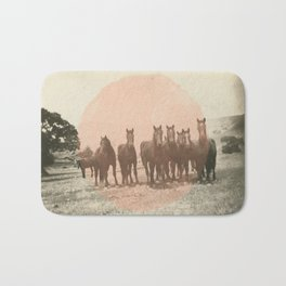 Band of Horses - Peach Bath Mat