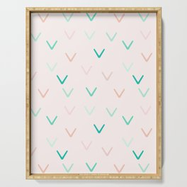Blush and Mint Minimalism Arrows Serving Tray