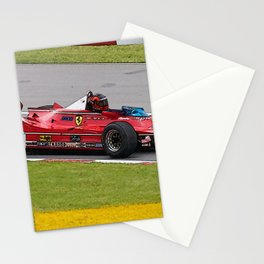 Sketch of F1 Champion Gilles Villeneuve - year 1980 car 312 T5 Stationery Cards