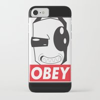 invader zim iPhone & iPod Cases featuring Obey Zim by Omitted