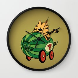 Albert and his watermelon ride Wall Clock