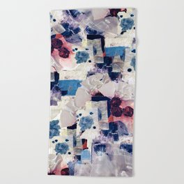 patchy collage Beach Towel