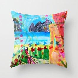 Koh pipi island in Thailand Throw Pillow